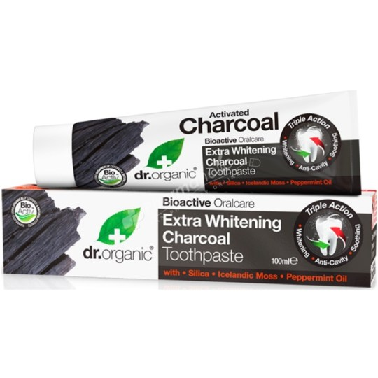 Dr.Organic Extra Whitening Charcoal Toothpaste