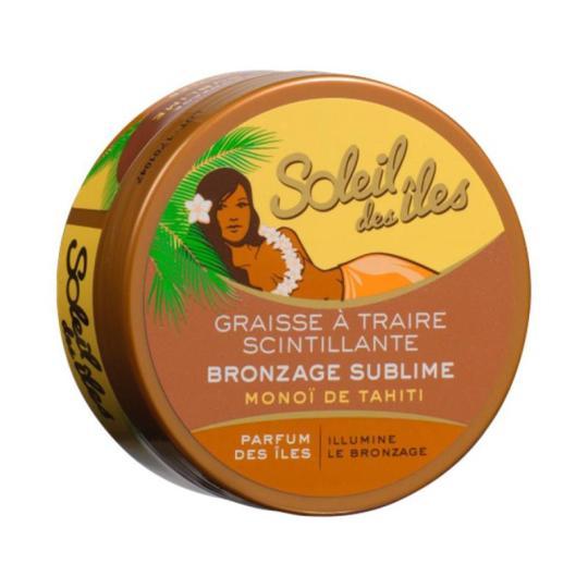 Soleil Des Îles Graisse à Traire Scintillante Bronzage Sublime Monoï de Tahiti