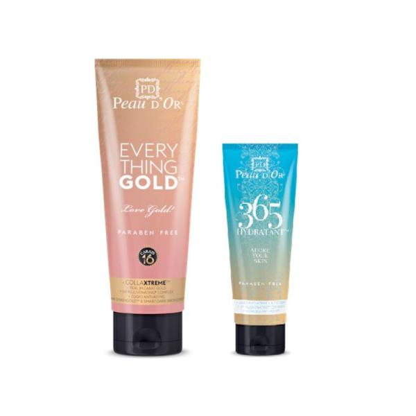 Peau D'or Everything Gold will fulfill your desire for that deep dark and healthy golden glow. Buy now and get Peau D'or 365 Hydratant for free.