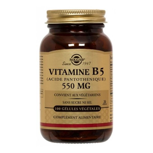 Solgar Vitamin B5 Pantothenic Acid