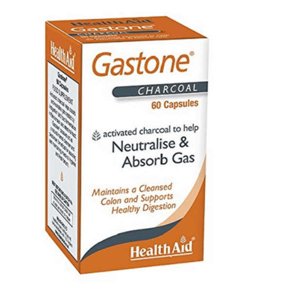 HealthAid Gastone Activated Charcoal 60 Capsules