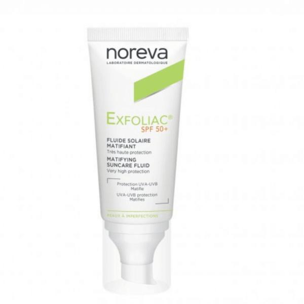 Noreva Exfoliac Matifying Suncare Fluid SPF50+ 40ml