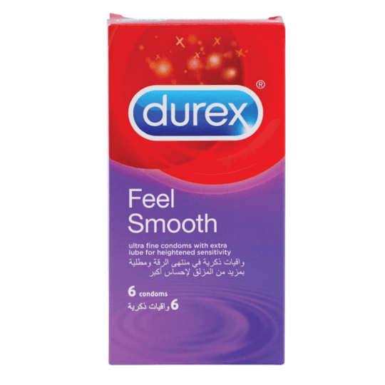 Durex Feel Smooth 6 Condoms