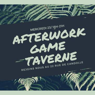 Afterwork Game Taverne (anglais)