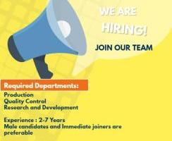 CALL/MAIL: RUI Laboratories Pvt. Ltd Urgent Openings for Production,QC,R&D