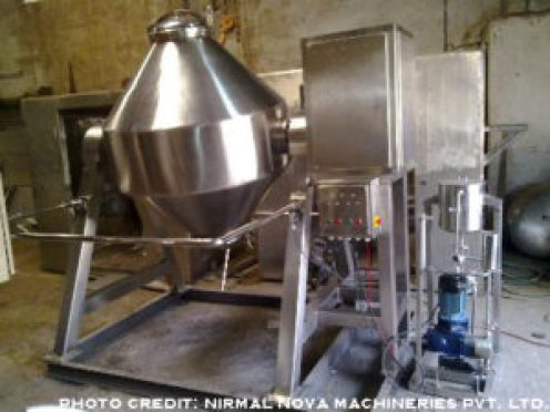 picture of a double cone mixer