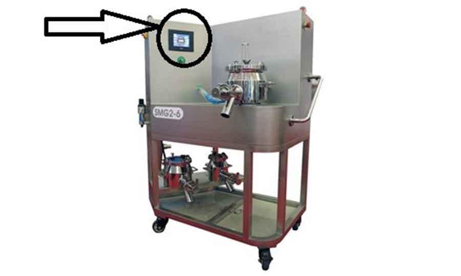 Control panel for a rapid mixer granulator
