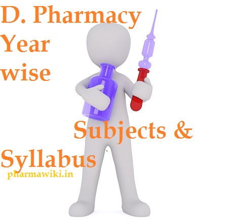 D. Pharmacy Year wise Subjects & Syllabus - D Pharma 1st & 2nd Year