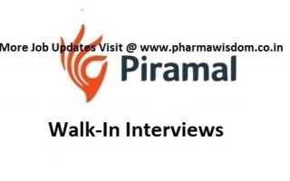 Piramal Pharma Solutions – Walk-In Interviews for Production / Solvent Recovery Departments on 21st Mar' 2021