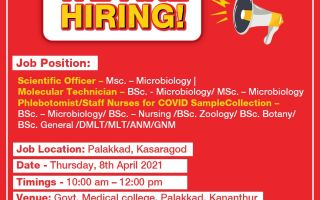 SpiceHealth – Walk-In Interviews for Microbiology / Nursing Candidates on 8th Apr' 2021
