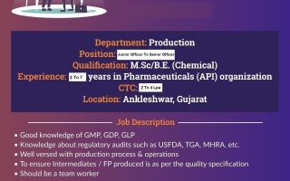Cadila Pharmaceuticals Ltd – Walk-In Interviews for Production on 31st July' 2021