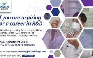 Jubilant Biosys – Virtual Recruitment Drive on 17th & 24th July' 2021 – Apply Now