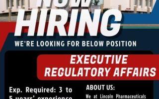 Lincoln Pharmaceuticals – Hiring for Regulatory Affairs