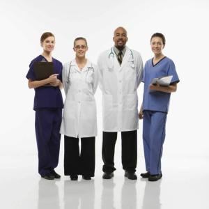 Portrait of medical healthcare workers.