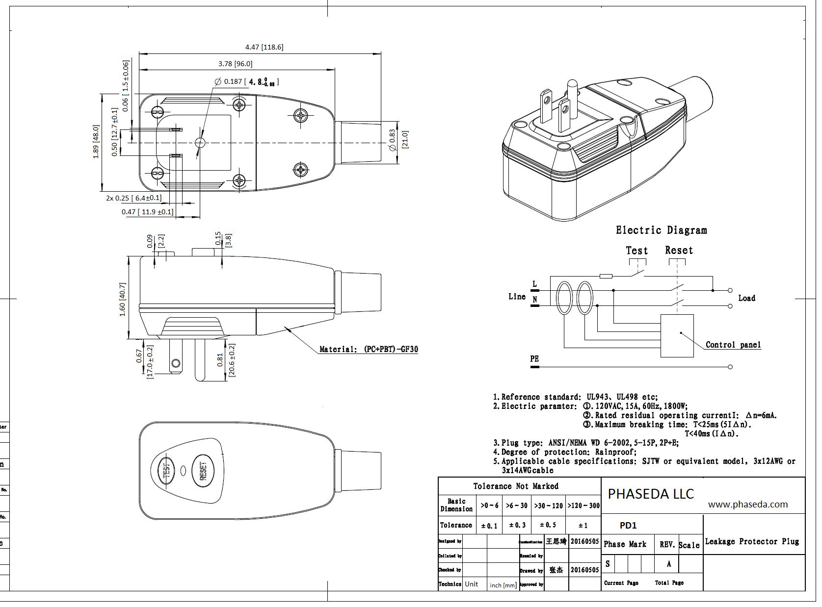 Pd1 Spec Sheet