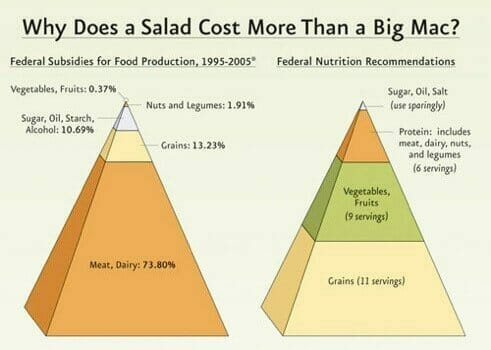 Why does a salad costs more than a Big Mac?