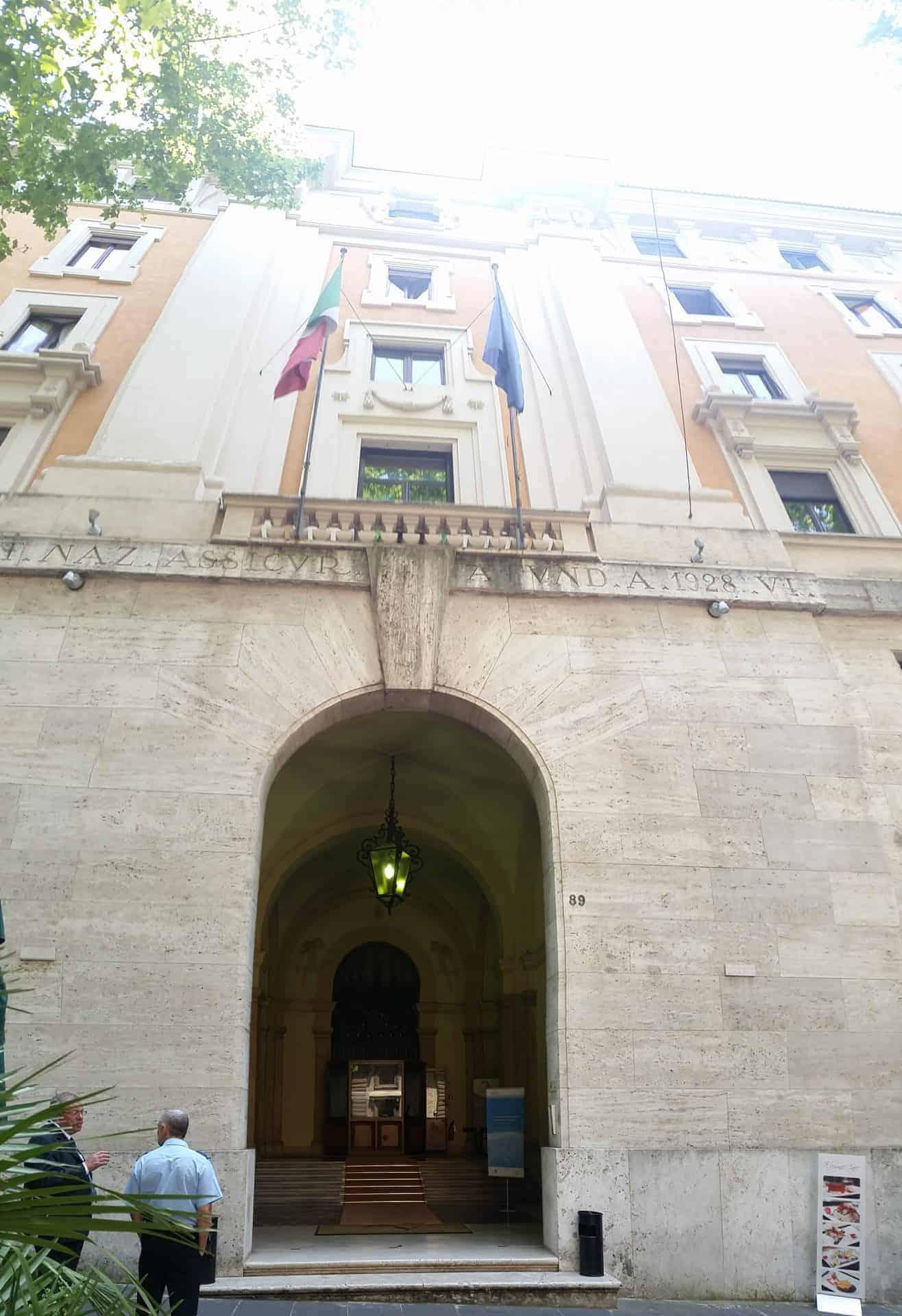 Sede Fintecna ex IRI Roma Via Veneto