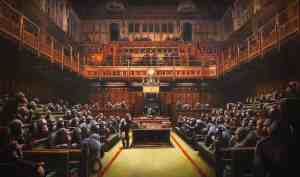 Devolved Parliament by Banksy