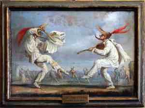 Scene della Commedia dell'Arte, fine XVIII-inizio XIX secolo