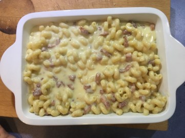 Mac + Cheese pre-croutons