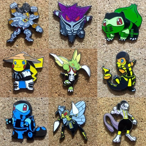 Pokemon mashup Pins