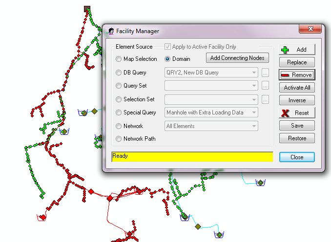 Figure 5. Use Facility Manager to Make the Domain Inactive