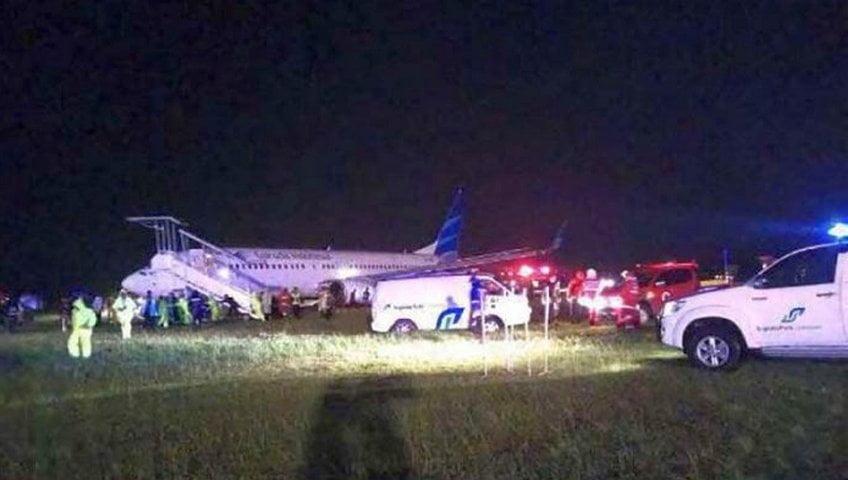 Garuda Indonesia Tergelincir di Bandara Adisutjipto Saat Landing