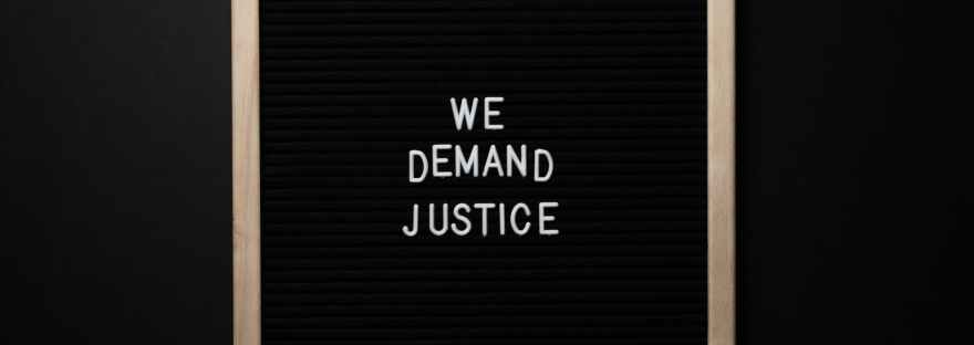 we demand justice inscription in frame