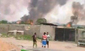 breaking panic as violence erupts in lagos community properties set ablaze