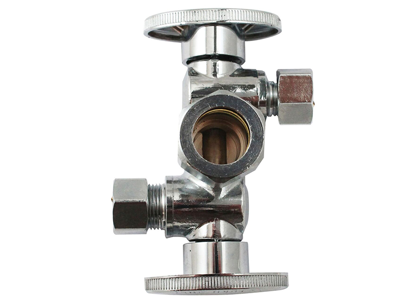 Keeney Dual Handle Dual Outlet Heavy Brass Ball Valves