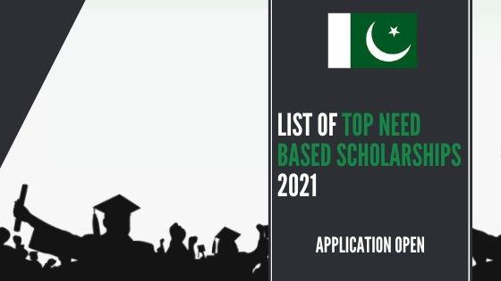 List of Need-Based Scholarships 2021