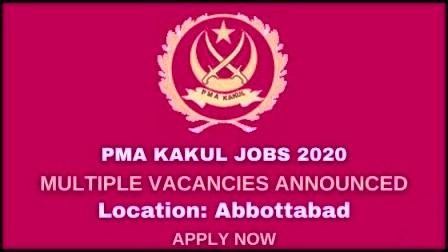 PMA Kakul Jobs 2020