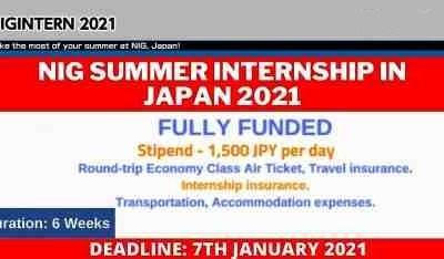 NIG Summer Internship Japan 2021
