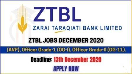 ZTBL Jobs December 2020