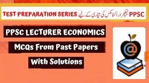 PPSC Lecturer Economics Solved Past Paper