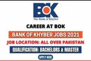 Bank of Khyber Jobs 2021