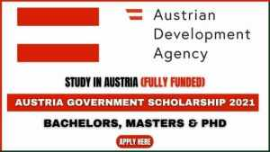 Austria Government Scholarship 2022