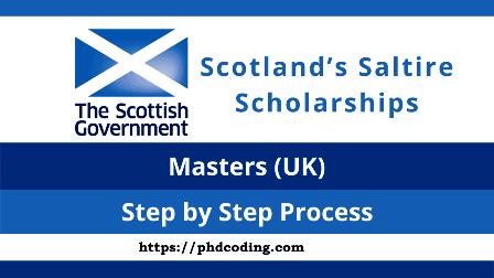 Scotland Saltire Scholarship 2022