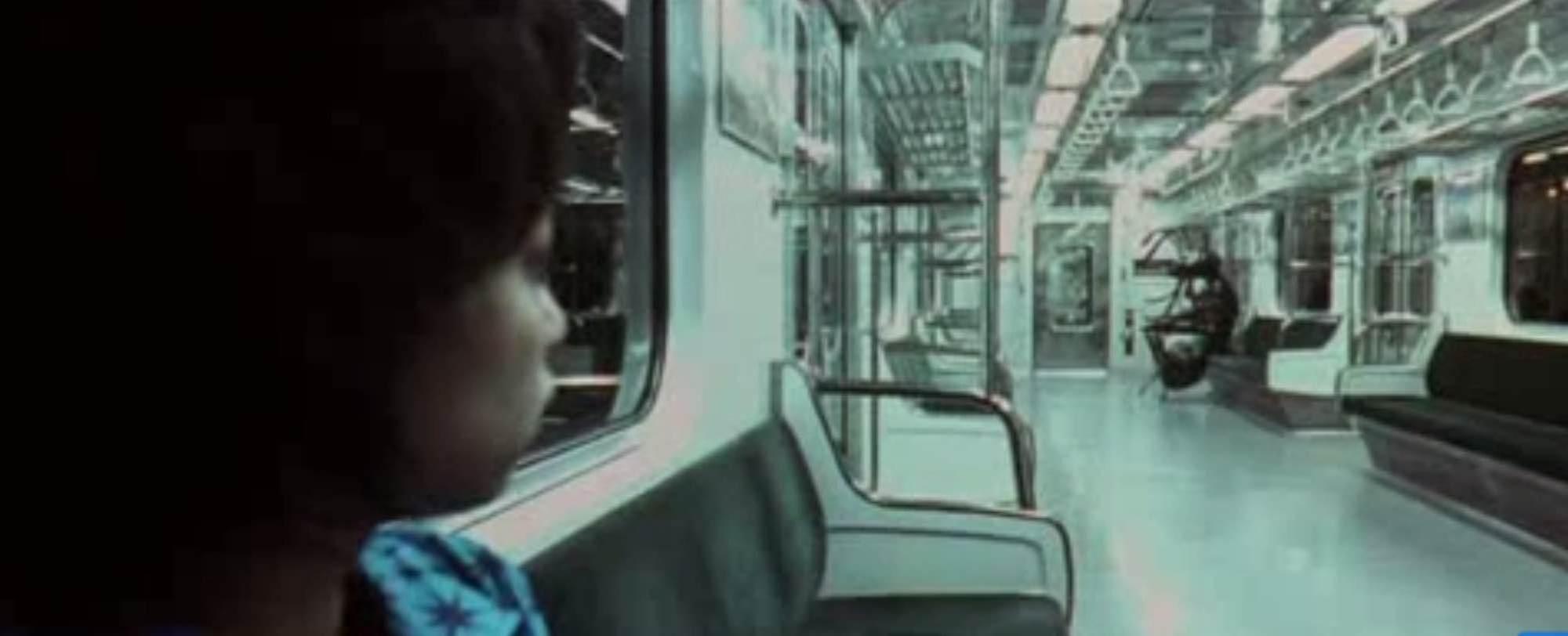 Mi-do on subway train