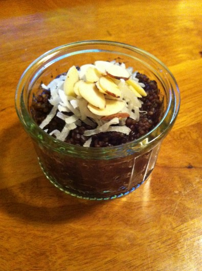 Dark Chocolate Dairy-Free Quinoa Pudding