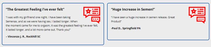 semenax customer reviews