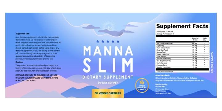 MannaSlim dosage