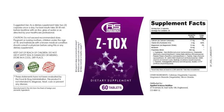 Z-Tox supplement dosage