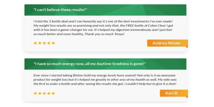 Biotox Gold Customer reviews 2021