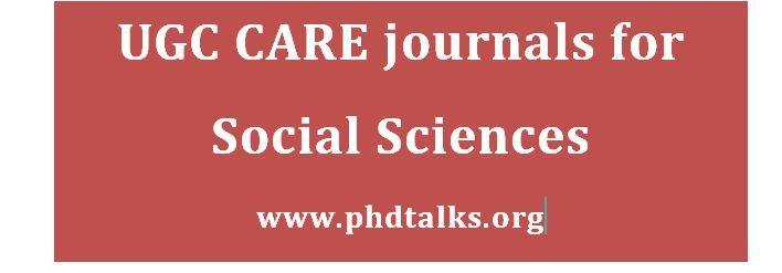 ugc care journals social sciences
