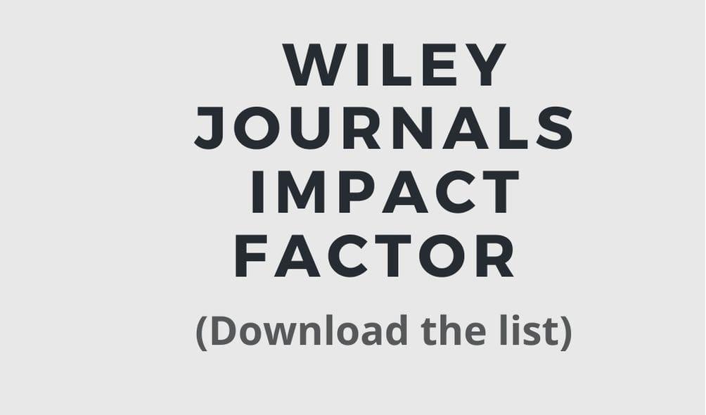 wiley journals impact factor