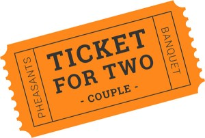 Couple Banquet Ticket