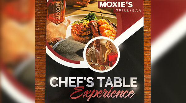 Moxies Chef's Table Experience Banquet Donation