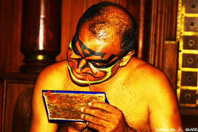 K,kathakali, dance, Kerala, make-up,wednesday,abc,wordless,praveen,karnataka,bangalore,throo da looking glass