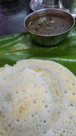 Mangalam Hotel - Dosa and mutton gravy